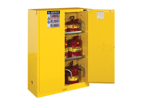 Sure-Grip® EX Flammable Safety Cabinet, 45 Gallon, Yellow