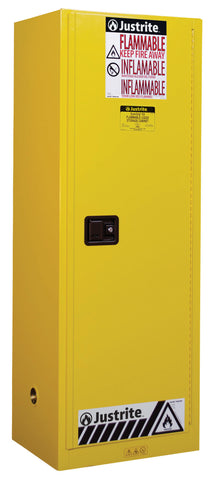 Sure-Grip® EX Slimline Flammable Safety Cabinet, 22 Gallon, Yellow