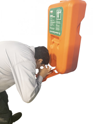 Self-Contained, Portable Eye Wash Station, 10-Gallon, Gravity-Fed