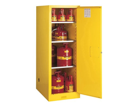 Sure-Grip® EX Deep Slimline Flammable Safety Cabinet, 54 Gallon, Yellow