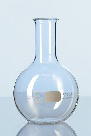 Duran® Round Bottom Flask with beaded rim, narrow neck