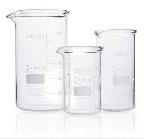 Duran® Super Duty Beaker with spout, with reinforced rim