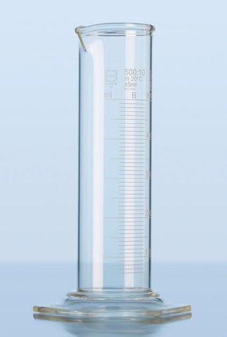 Duran® Super Duty Measuring Cylinder low form, class B, with graduation and hexagonal base