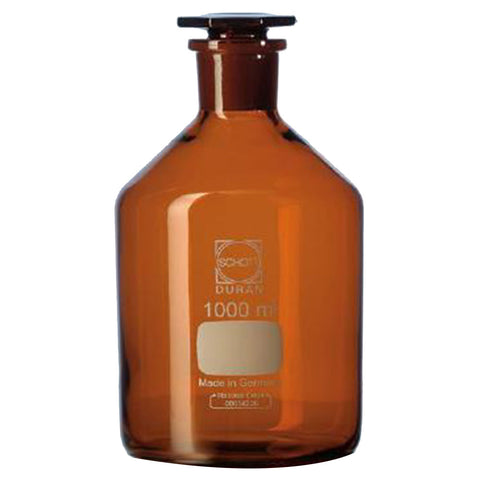 Duran® Reagent Bottle Narrow Neck, Amber USP <660> and USP <671> (Spectral Transmission) compliant