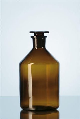 Reagent Bottle Narrow Neck, Amber from Soda-lime glass neck with standard ground joint