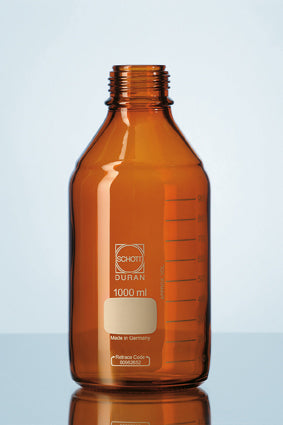 Duran® Laboratory Bottle Amber, with DIN thread, USP <660> and USP <671> (Spectral Trasmission) compliant