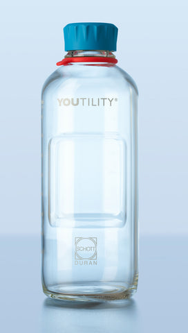 Duran® YOUTILITY Laboratory Bottle, GL 45, with screw-cap and pouring ring from PP