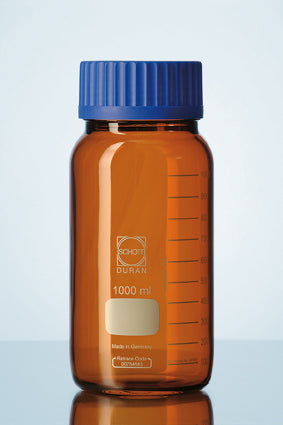 Duran® GLS 80® Laboratory bottle wide mouth Amber, with GLS 80® , USP <660> and USP <671> (spectral transmission) compliant