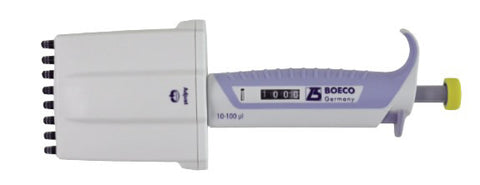 BOECO SA Series, adjustable multichannel pipettes, with tip ejector