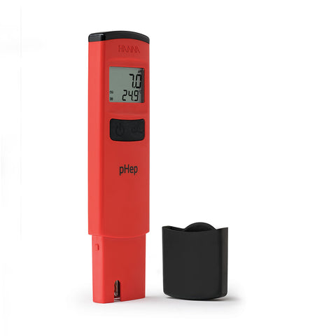pHep Waterproof Pocket pH Tester with 0.1 pH Resolution - HI98107