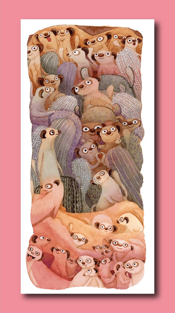 Suricata Addict! Bookmark - Deborah Go