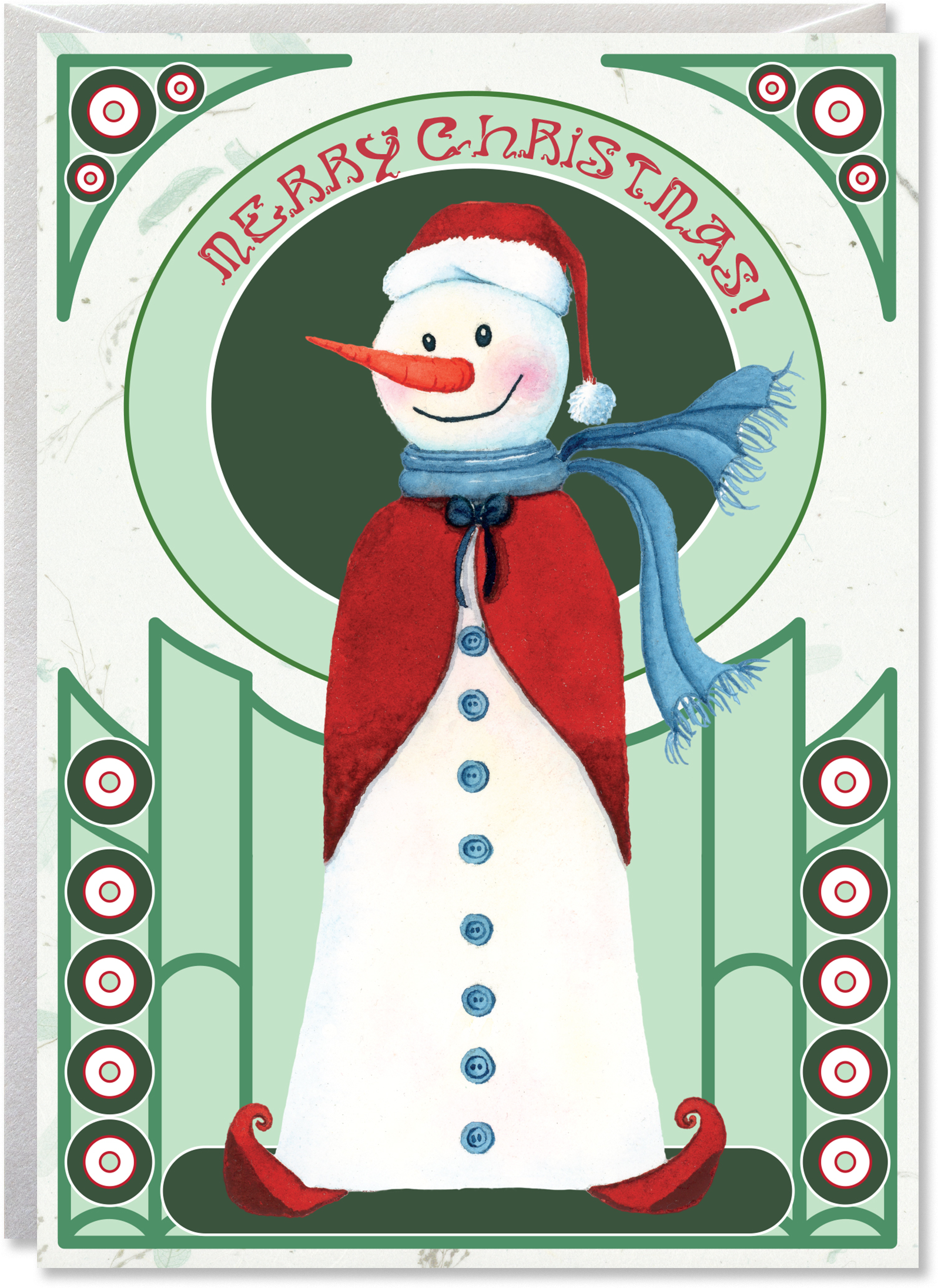 The Elegant Art Nouveau Snowman