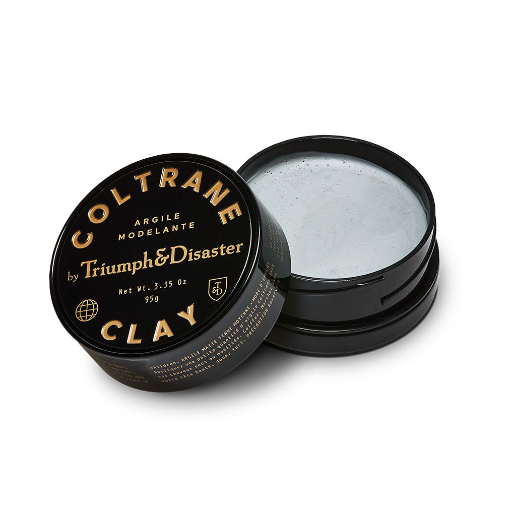 coltraneclay_25g - 95g-MEDIUM HOLD styling clay - MATTE LOOK hair clay - STYLING CLAY for men