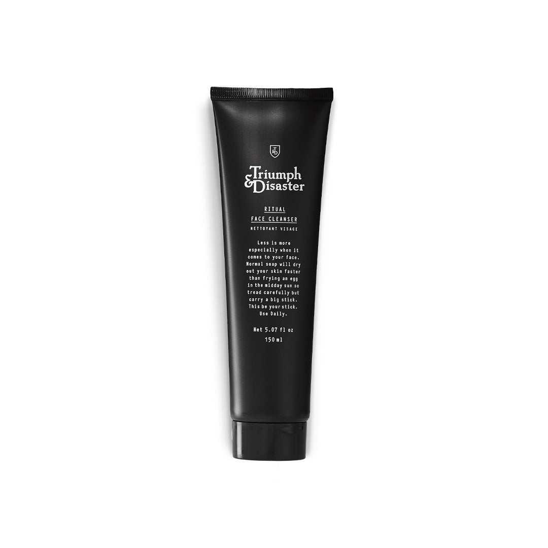 Ritual Face Cleanser by Triumph & Disaster - 150ml - Mens face wash and face cleanser - 2in1 face wash - luxury face cleanser for men - present ideas for men