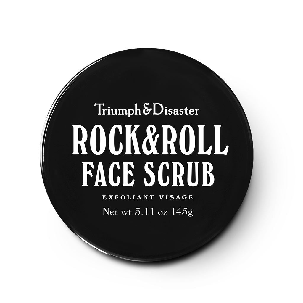 Regular exfoliation with a well balanced and complete face scrub like Rock & Roll Scrub will remove dirty pores, blackhead scrub and dirty face scrube for men - gifts for men - face products for men - face scrub for men and presents for men