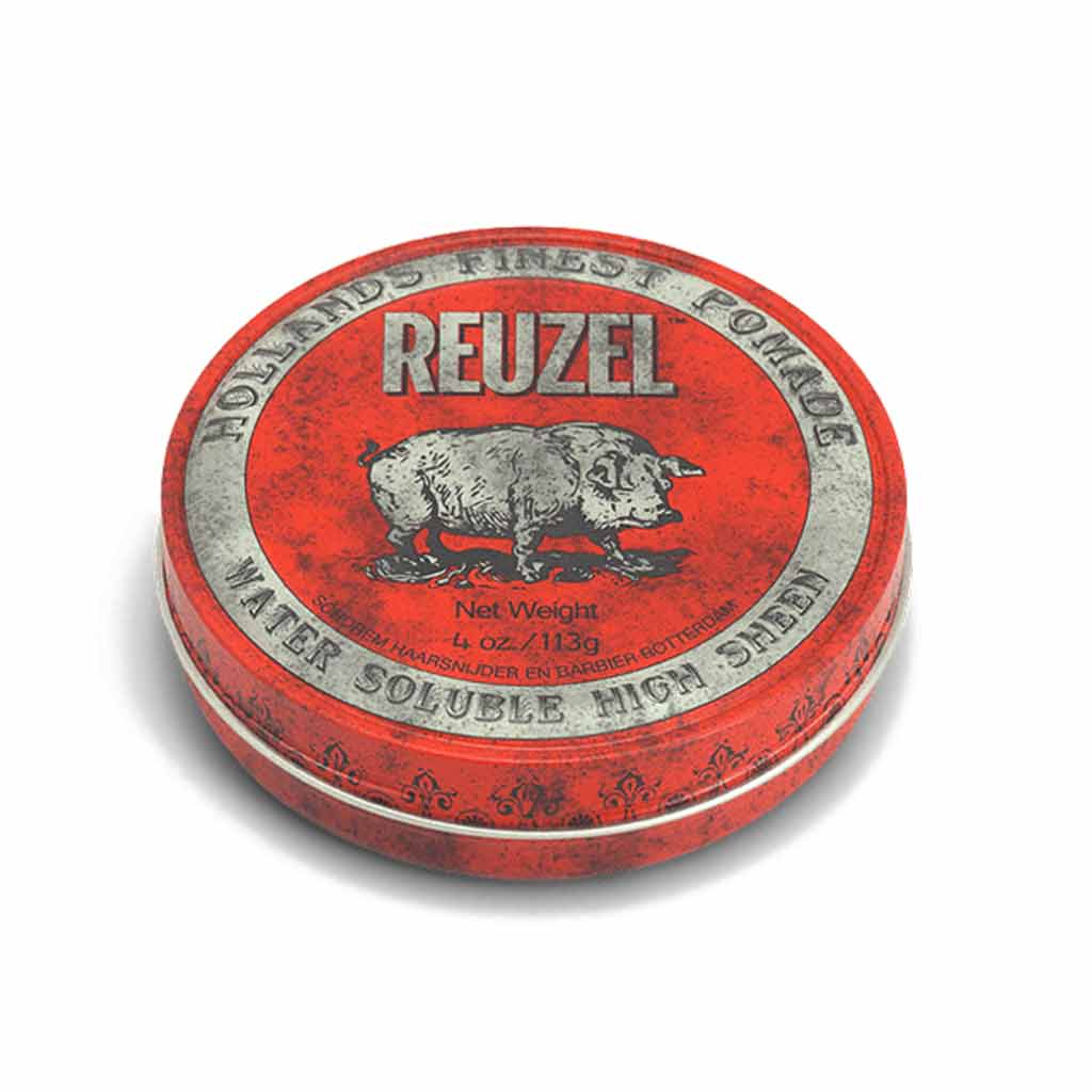 reuzel_red_pomade-MEDIUM HOLD - HIGH SHINE pomade - WATER SOLUBLE pomade - pomade for all hair types -men's hair styling products nz - styling products all men should have