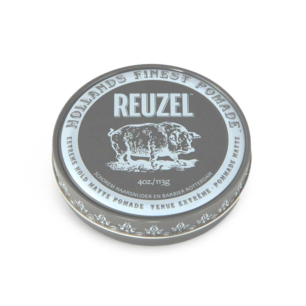reuzel extreme hold matte pomade -NO SHINE pomade – WATER SOLUBLE pomade - level 1 shine - no shine pomade - 10 out of 10 extreme hold pomade - matte pomade for men - pomade hair product gifts for men