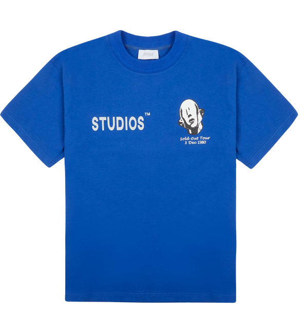 favela studios father stretch my hands Graphic blue  t-shirt