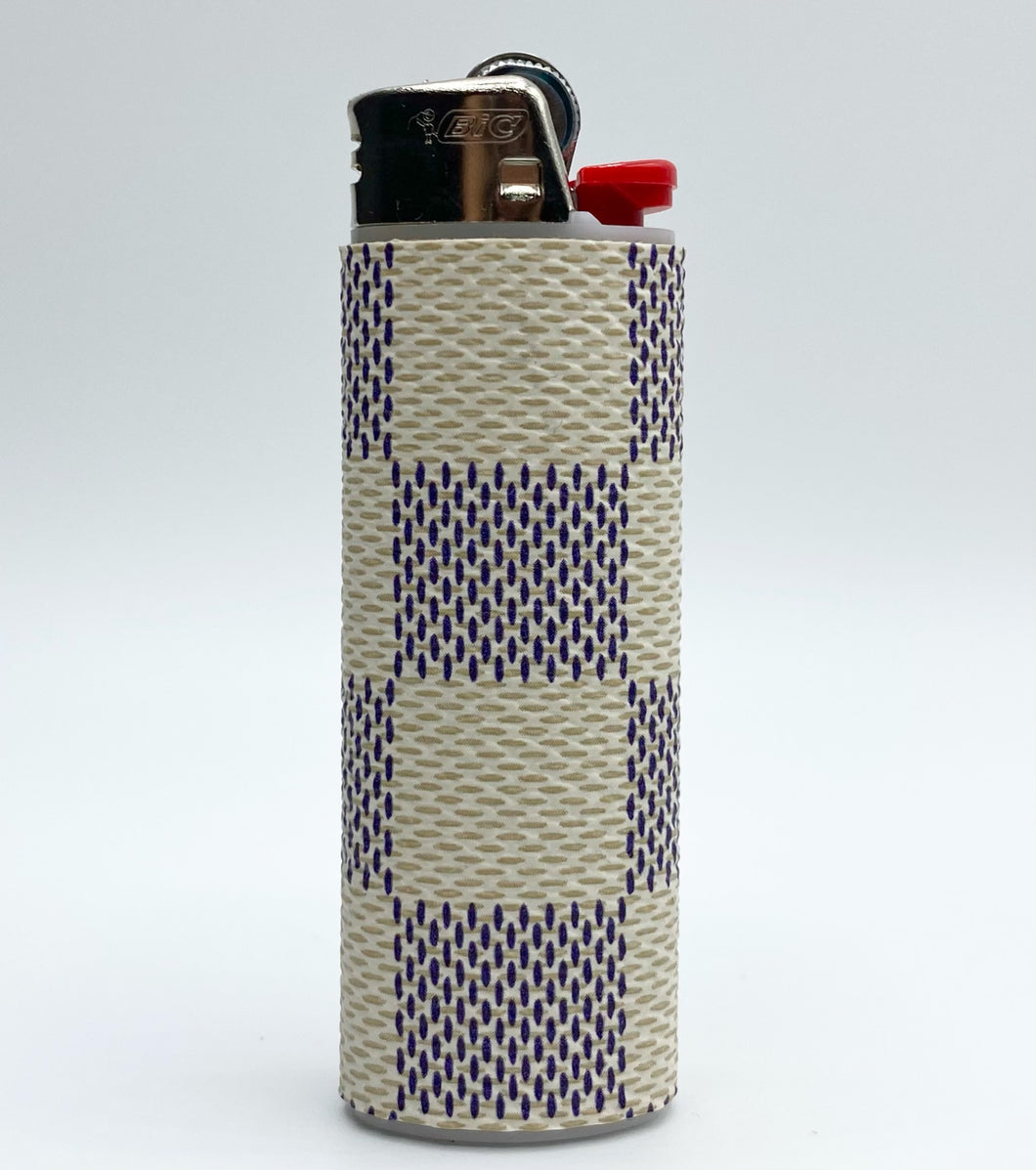 White Damier Lighter