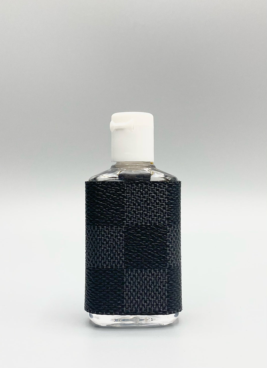 Black Damier Graphite Hand Sanitizer