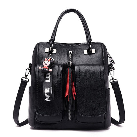 3-in-1 Women Backpacks Vintage Female
