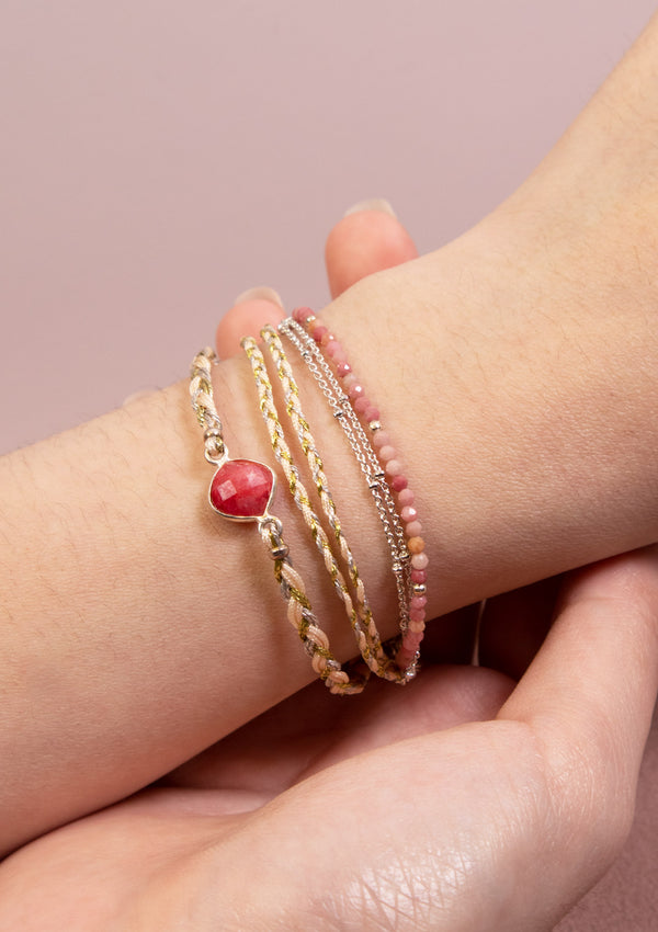 ANNA Wrap Bracelet in Pink Multi