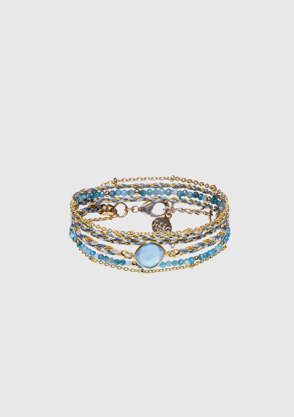 ANNA Wrap Bracelet in Blue Multi