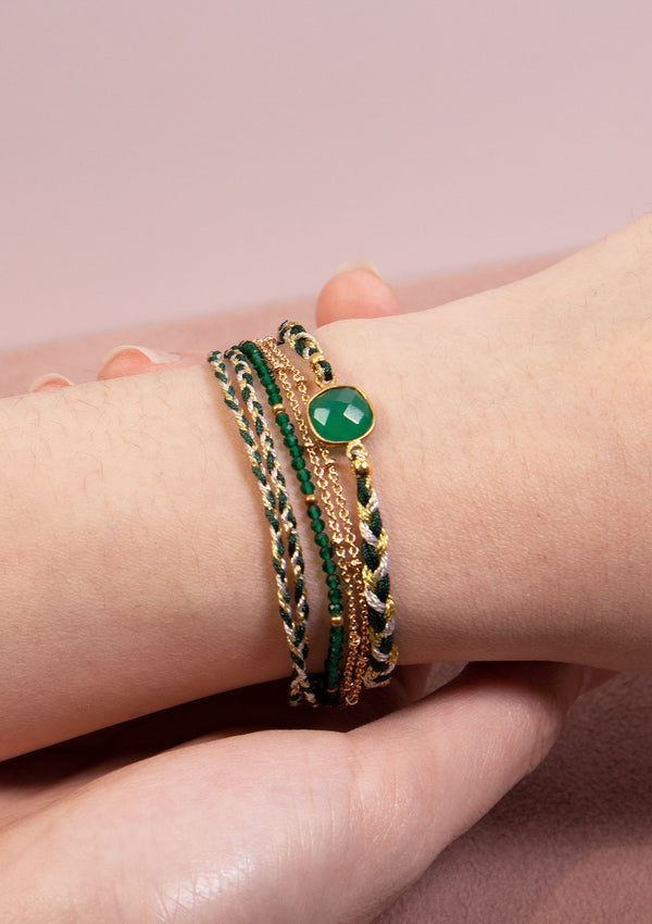 ANNA Wrap Bracelet in Green Multi