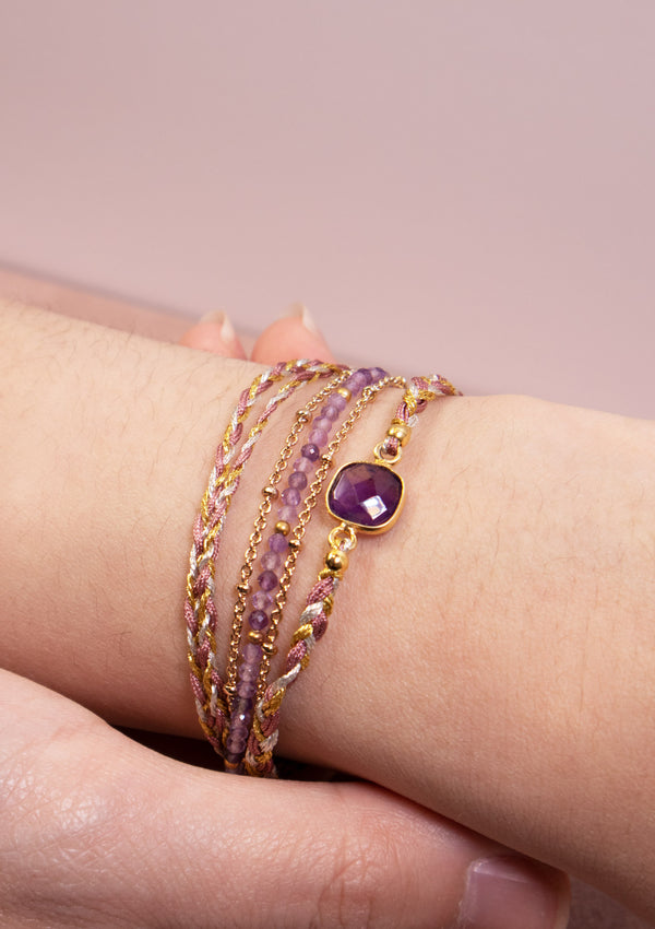 ANNA Wrap Bracelet in Purple Multi