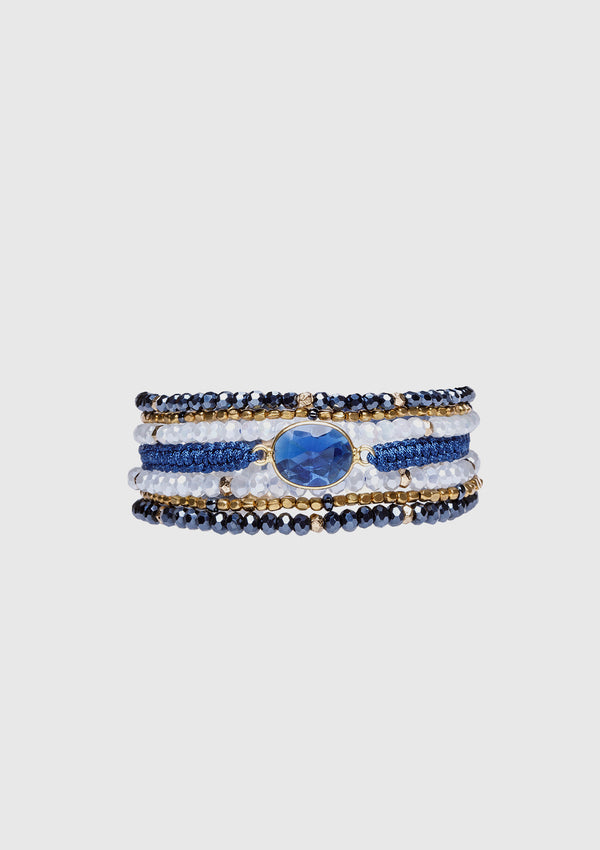 CHARLINE Wrap Bracelet in Blue Multi