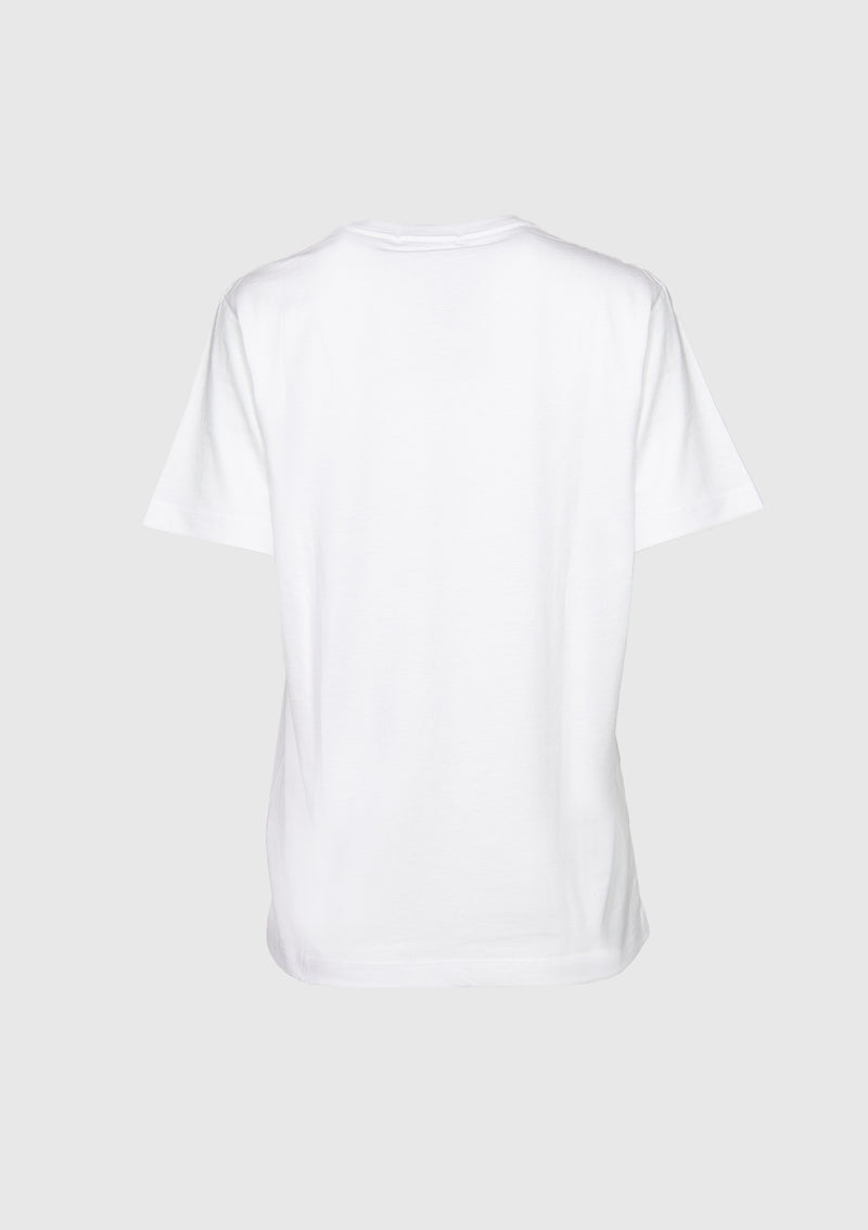NEVERMIND Logo Tee in White Other