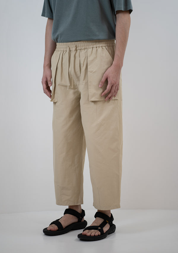Relax Elasticated Pants in Beige
