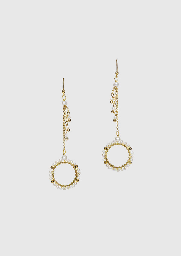 ANOUK Hoop Dangling Earrings in White