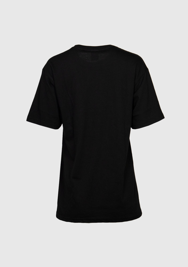 THERE Short Sleeve Logo Tee in Black x Check
