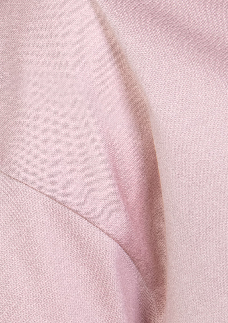 Drop-Shoulder Flare Tee in Light Pink