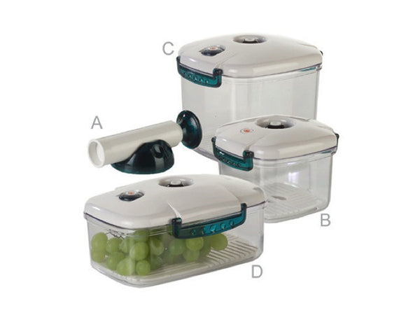 Set Of 3 Vacuum Containers With Pump Vauxxia Shop