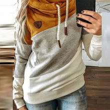 Load image into Gallery viewer, Womens Gradient Print Patchwork Hooded Sweatshirt
