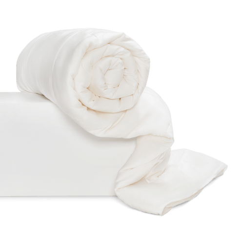 mulberry silk eucalyptus cooling white natural comforter