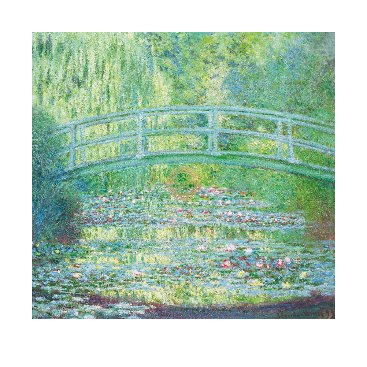 Claude Monet, The Waterlily Pond With Japanese Bridge 1899