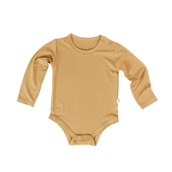 Long Sleeve Onesie - Honey