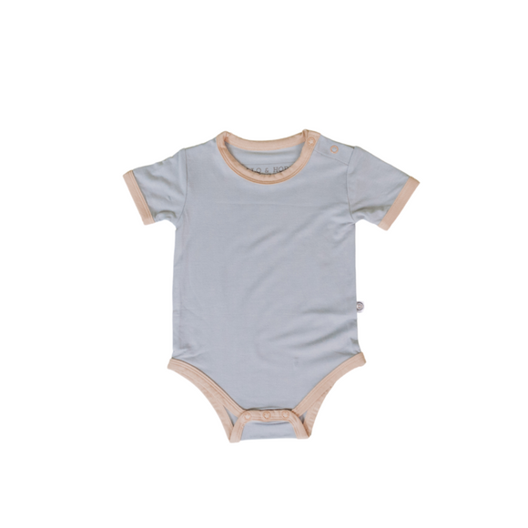 Short Sleeve Onesie - Storm Wheat