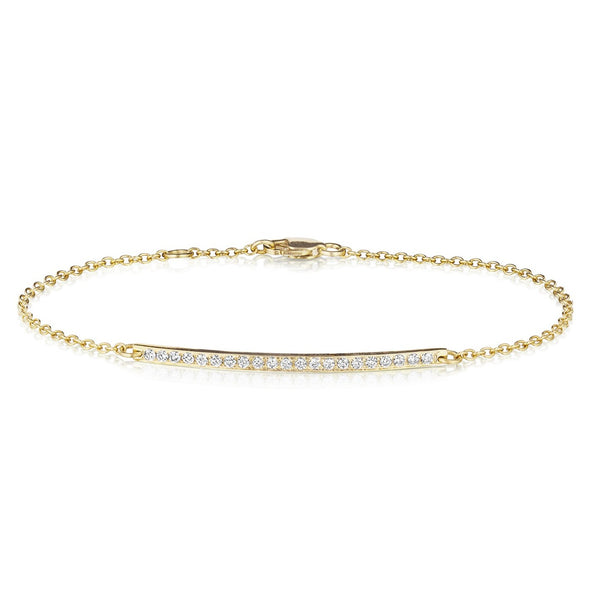 Long Bar Diamond Bracelet