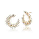 Constellation Demi Hoop Diamond Earrings