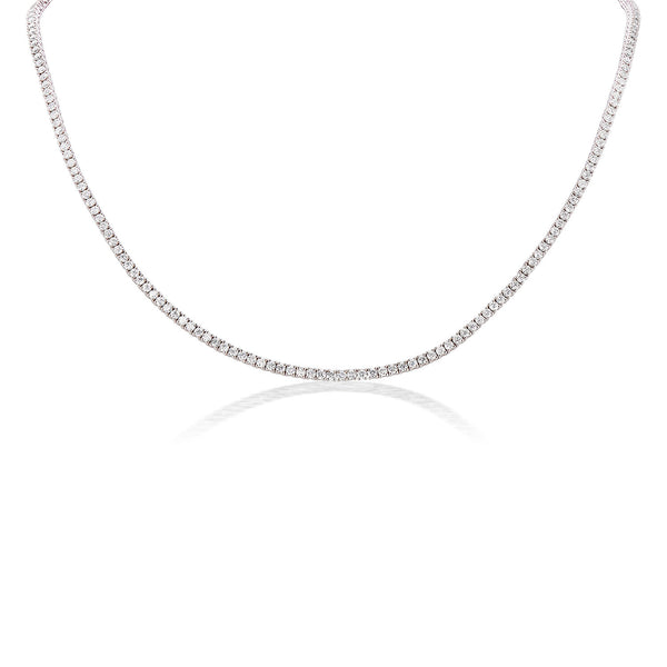 Halo Diamond Tennis Necklace