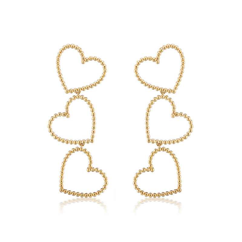 Confetti Sweetheart Drop Earrings