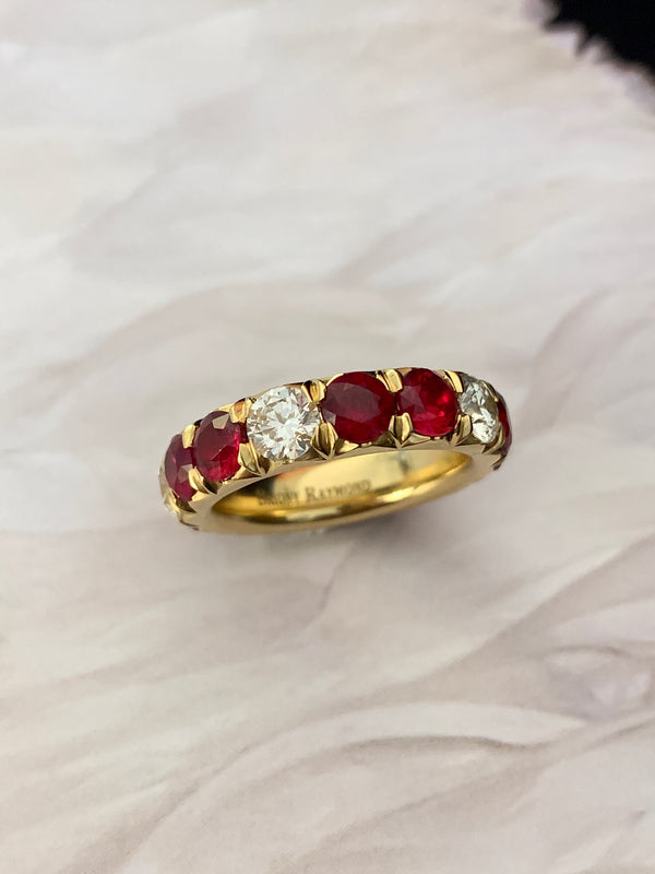 Étoile Ruby & Diamond Eternity Ring