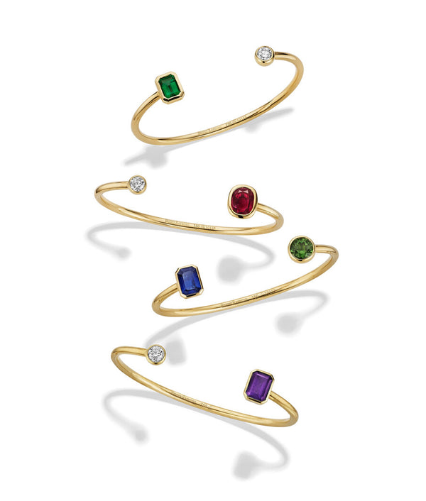 Aura Birthstone Bangle