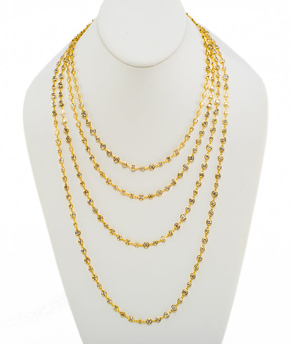 Aura Cascading Necklace, extra-long