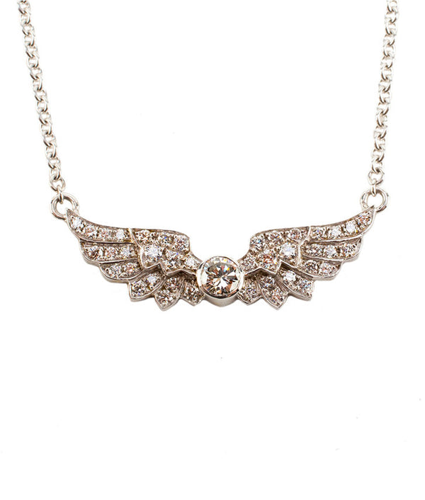 Aura Diamond Wings Necklace