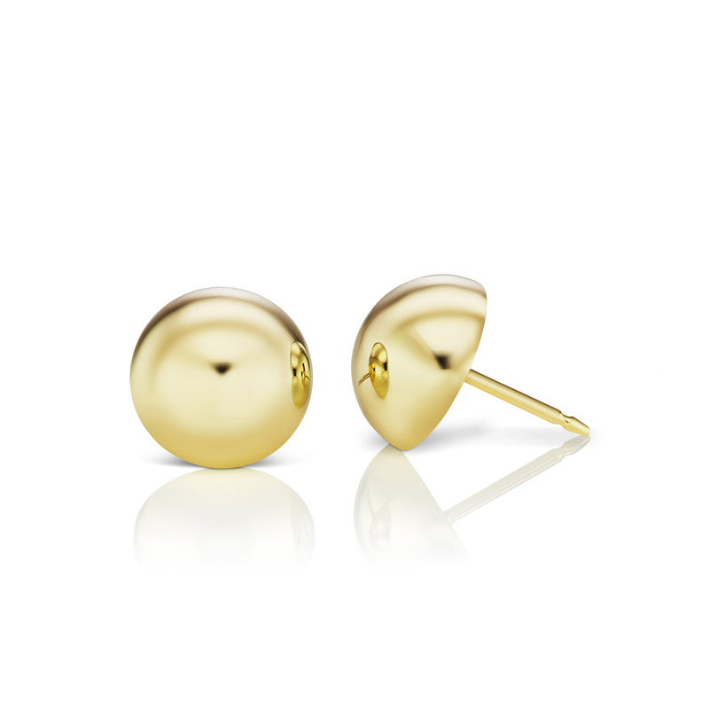 Aura Golden Dome Earrings